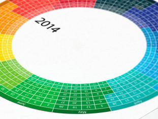 Thiết kế lịch treo tường độc quyền 2014 cảm hứng sáng tạo - VietArt Avertising